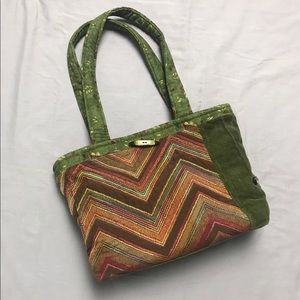 Handmade Fall Colors Shoulder Bag